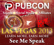 See Me Speak at PubCon Vegas 2013