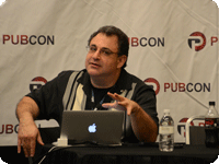 Jeffrey Eisenberg at Pubcon. Photo: Tim Ash
